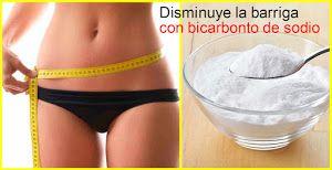 BELLEZA Y PEINADOS nos deja un truco para reducir barriga con ayuda del bicarbonato.