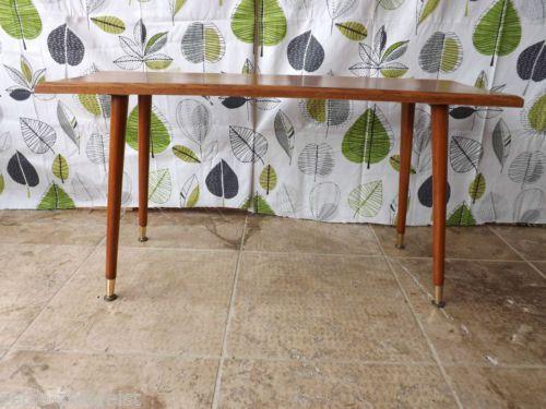 vintage retro 50s 60s oak top atomic mid century dansette leg coffee table ebay