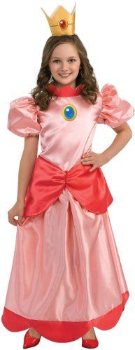 Spirit Girls' Mario Bros Princess Peach Child Costume Large -- Be sure to check out this awesome product.