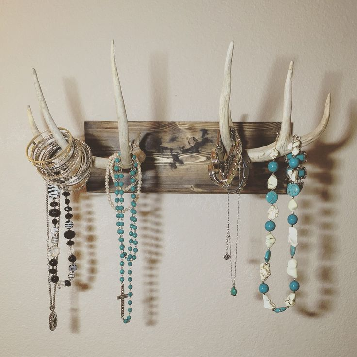mounted antler jewelry holder real deer antler jewelry holder wall mounted…
