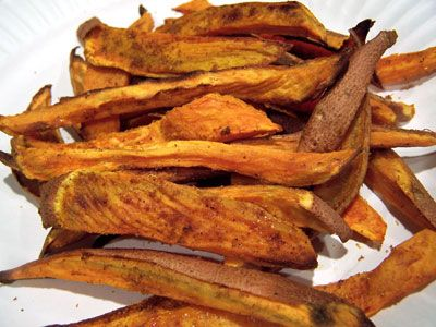 Love Sweet potato fries!: Delish, Fries Recipe, Baked Sweet Potatoes, Sweets, Delicious, Vegetable