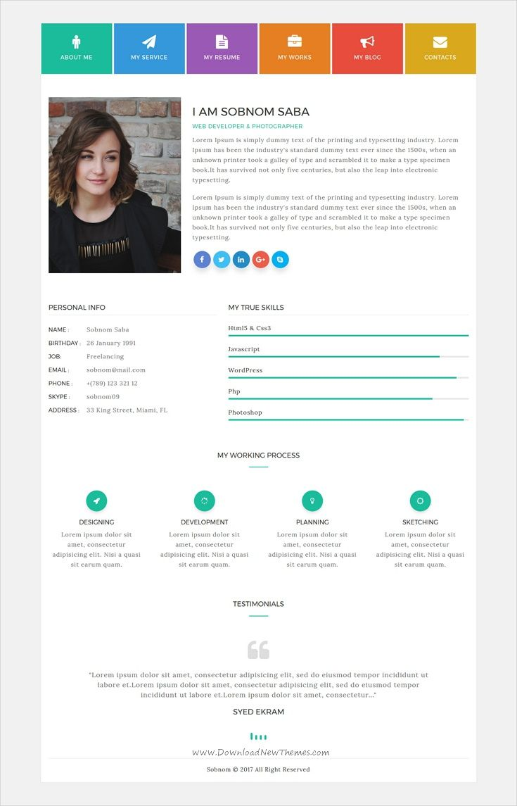 ideas about personal portfolio websites sobnom is fresh and clean design 2in1 responsive html bootstrap template for cv