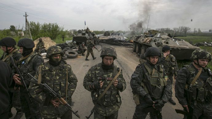 14 military killed in chopper downed in E. Ukraine -acting president Aleksandr Turchinov,  Ukraine's army has started shelling the eastern Ukraine cities of Slavyansk and Kramatorsk, resuming its massive military operation in the East of the country Reuters / Baz Ratner