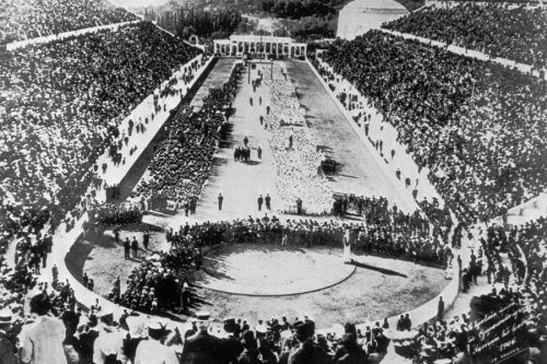 """Old Pics Archive on Twitter: """"The Opening Ceremony of the first Modern Olympics in Athens, Greece. - 6th April, 1896. https://t.co/x2itcMYsAQ"""""""