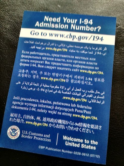 Get your I-94 Admission Number Online by http://carlosmeliablog.com/get-your-i-94-admission-number-online/