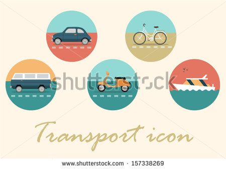 Transport retro icon
