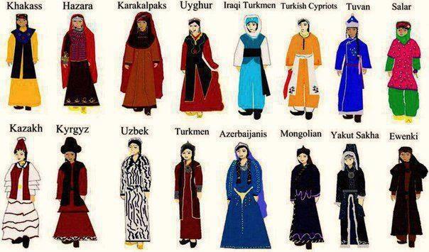 türk dünyası kıyafetleri