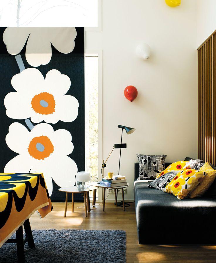 Marimekko, Unikko, Finnish design, mid century pattern, mid century textiles, Scandinavian design