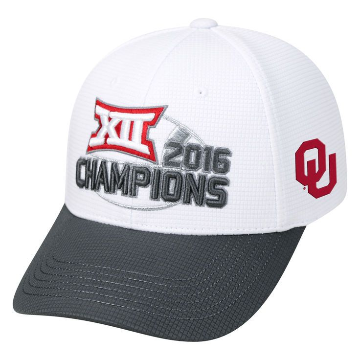 Oklahoma Sooners Top of the World 2016 Big 12 Football Conference Champions Locker Room Snapback Adjustable Hat - White - $22.99