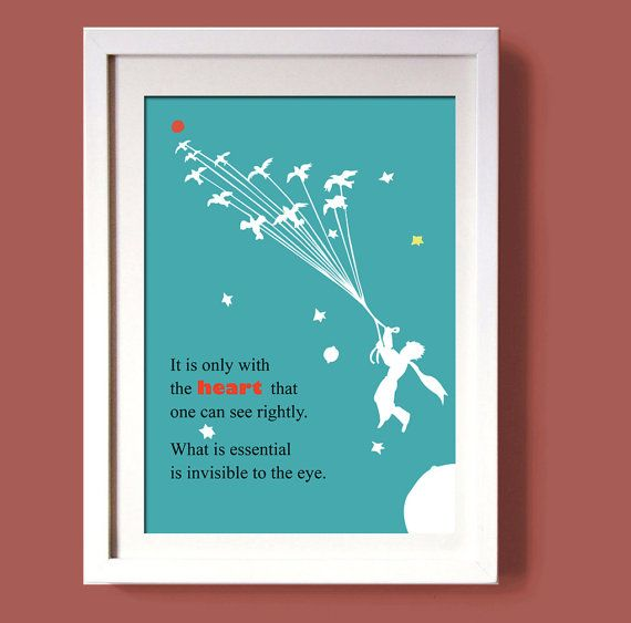 THE LITTLE PRINCE printwall art decor art poster by COLOR4FUN