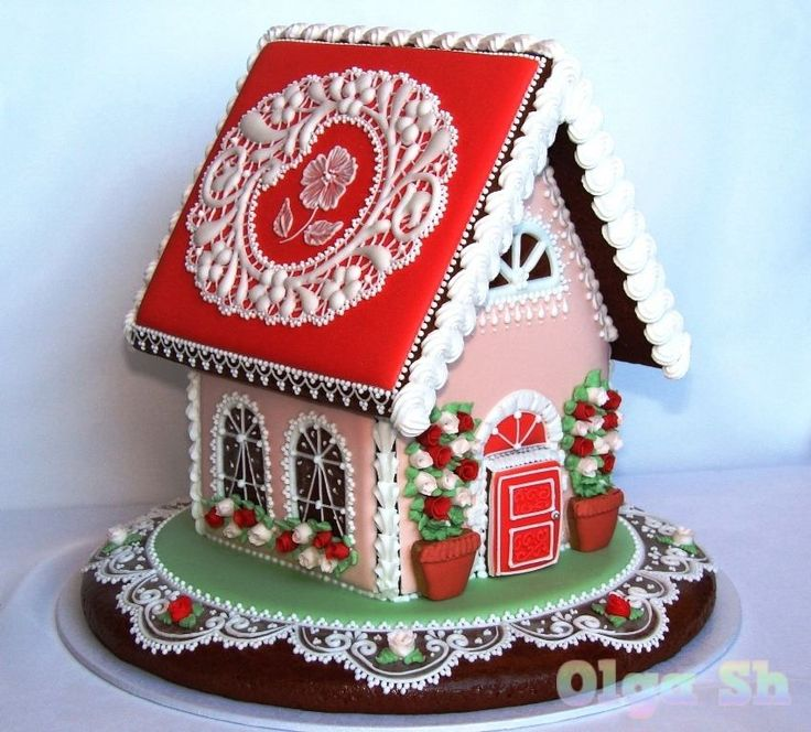 Casa de Galleta gingerbread house valentine's day