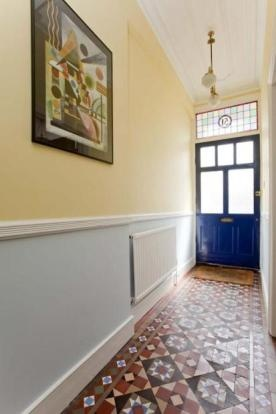 Minton tiles.....plus the stained glass above the door? Mmmmmmm..... I need this in my dream home!!!
