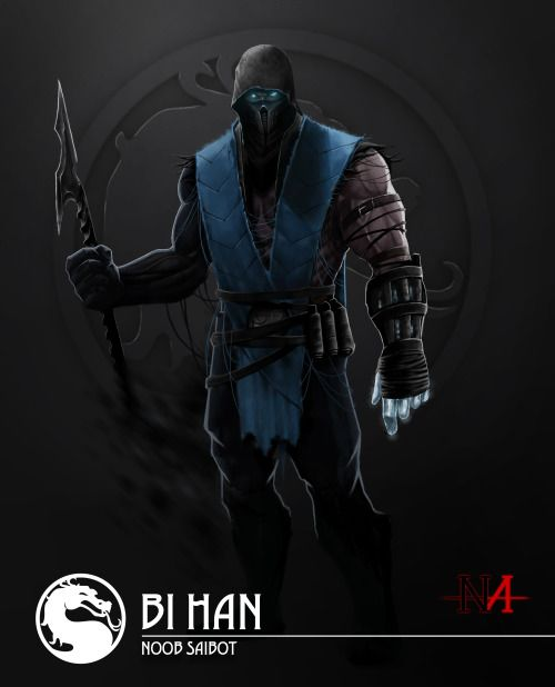Been 5 years lol since I've posted MK Art, This one is my interpretation of Bi Han resurrected, his own consciousness and abilities of both the Original Subzero and Noob Saibot. Apart from the Shadow he forms he can now summon weapons from his body to throw as projectiles, hence the throw-able spear, His soul purpose, to finish Quan Chi. Hope you all like. :) Next up Ermac.