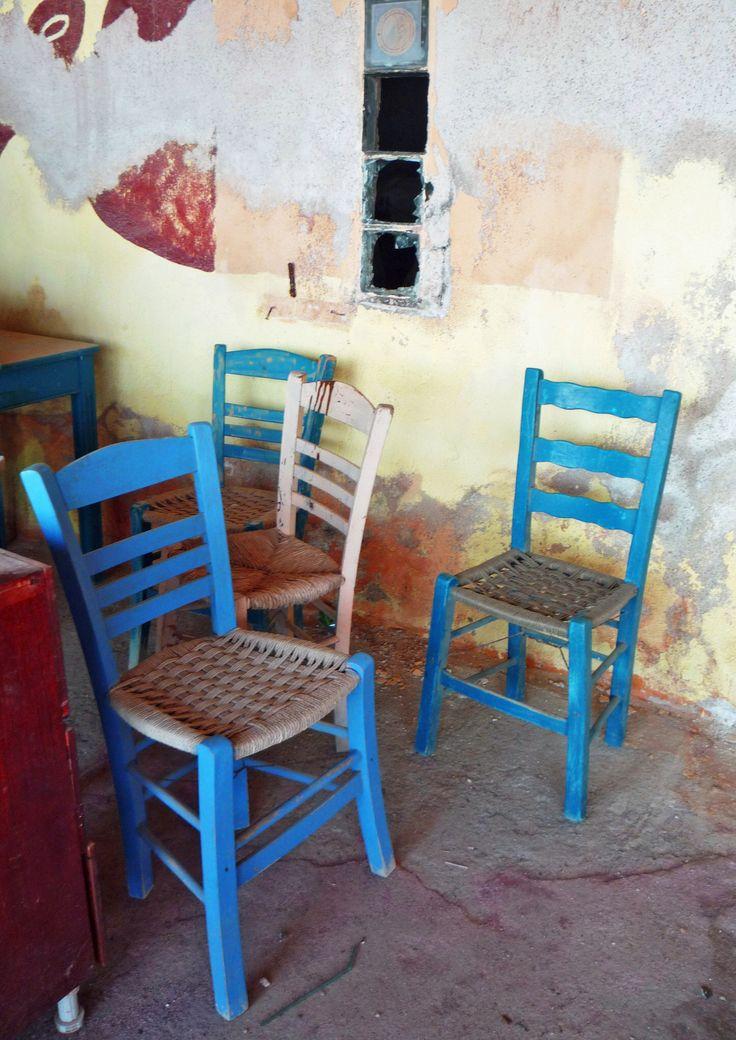 Le sedie blu - Santorini
