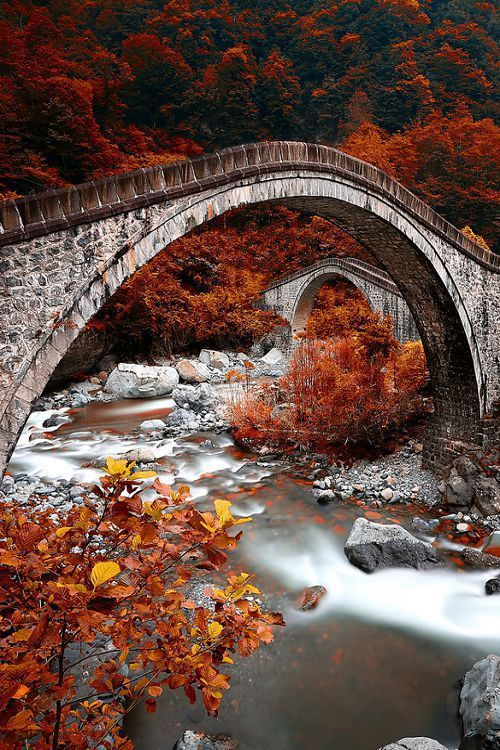 Ancient double bridge,Turkey.