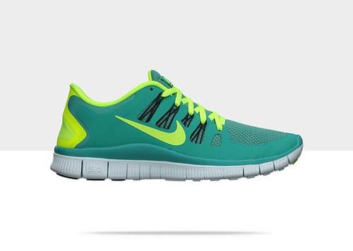 Nike Free 5 0 Womens Running Shoe Turquoise Volt 580591 373 BNIB | eBay