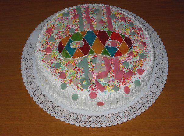 torta maschera carnevale