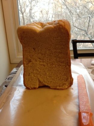 This is the softest white bread I have ever baked. It was sent to me via email and I cannot remember who sent it. This is the only recipe I use for white bread.