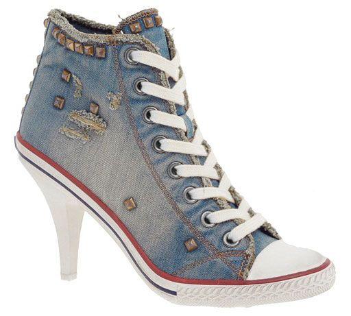 converse heels denim....i wish it was a wedge though