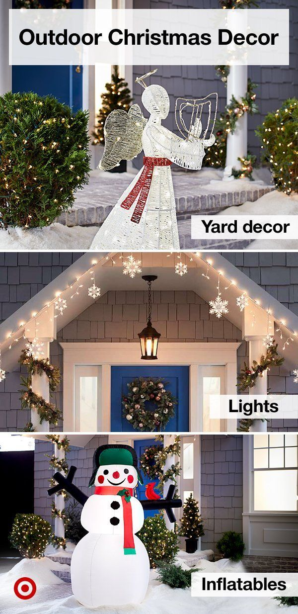 Create a festive outdoor display with statement-making Christmas decor,  like lawn ornaments, lights & wreaths. | Target Deals | Pinterest |  Christmas ... - Create A Festive Outdoor Display With Statement-making Christmas