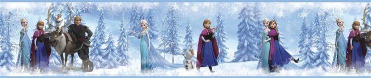 Dekorační bordury Frozen. Bordura Ledové království. | Lunami