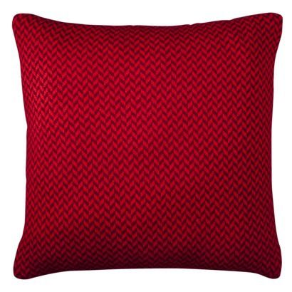 Threshold Red Herringbone Floor Pillow - 24x24