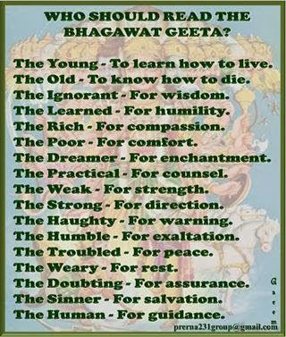 the idea of the existence of individuality according to the bhagavad gita Most holy acharya on verse 30 of chapter xviii of the bhagavad gita  this  thought is due to a great misunderstanding about the nature of  co-existence  with brahman, is not void- the existence of jagat apart  in the upanishads the  individuality is a means to the attainment of the high spiritual truth.