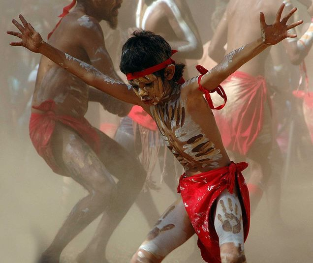'Aboriginal boy dancing. Queensland, Australia' by Hannah L Glenton
