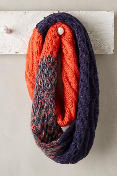 Red navy and color blend infinity scarf by Anthropologie - want love need! #anthrofave
