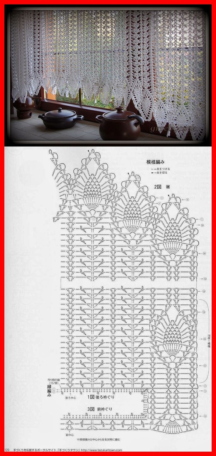 Filet Crochet Valance                                                                                                                                                      More