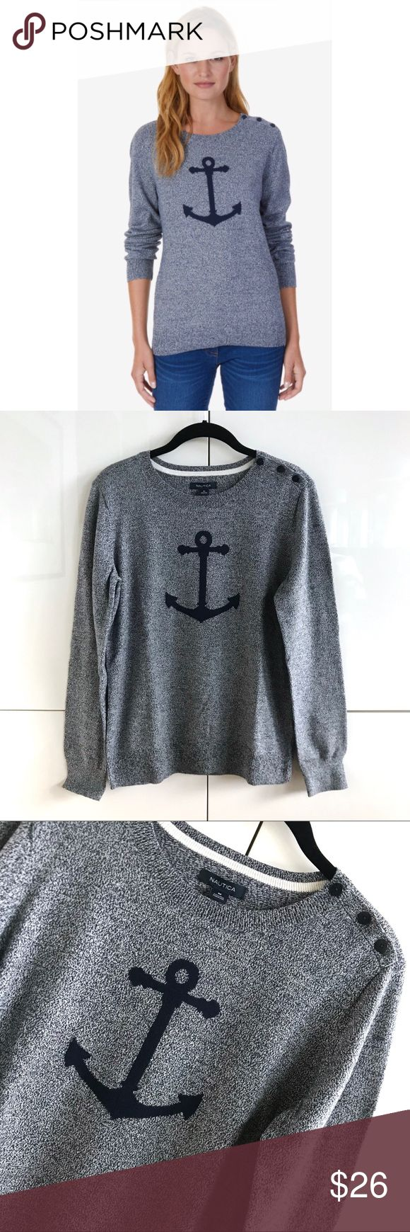 🆕 NWT Nautica Long Sleeve Intarsia Anchor Sweater 🆕 NWT Nautica Long Sleeve Intarsia Anchor Sweater.  Size medium.  100% cotton.  Brand new with tags.  Perfect condition; flawless. Nautica Sweaters