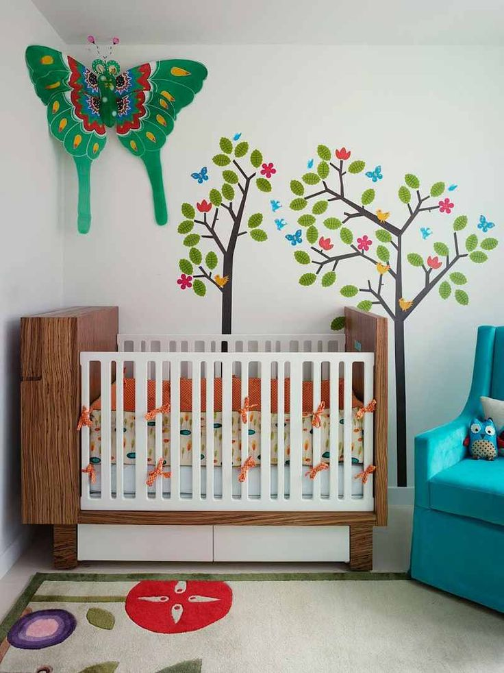 Baby Room In Artistically Designed Apartment Marked In Vivid Colors  Character Good Looking