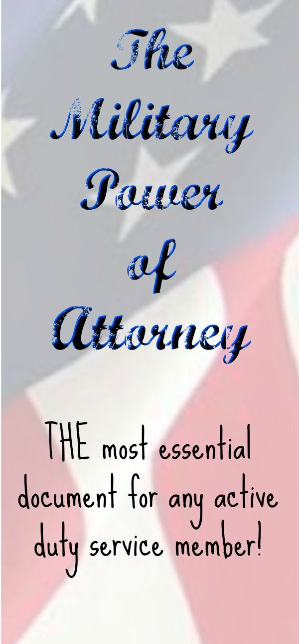 This Special Power Of Attorney Is For Those Serving On Active Duty In The Military And Covers Many Areas Of Benefits And P Power Of Attorney Prayer Board Power