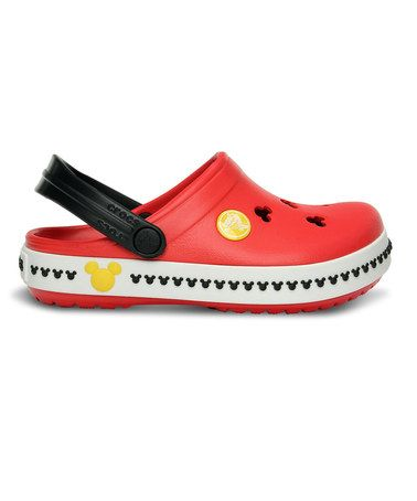 Look at this #zulilyfind! Mickey Mouse Red & Black Crocband™ III Clog - Toddler & Boys #zulilyfinds