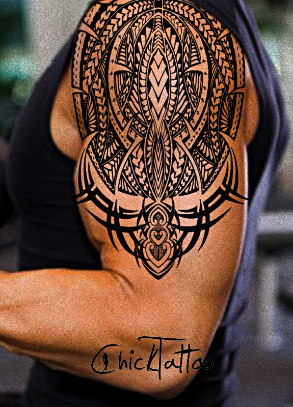 1000 ideas about tribal arm tattoos on pinterest tribal for How to blend tattoos into a sleeve