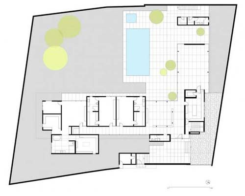 L Shaped House Site Plan