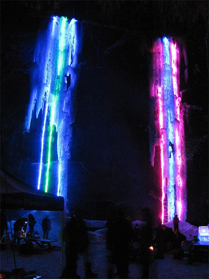 Illuminated Ice Climbing!