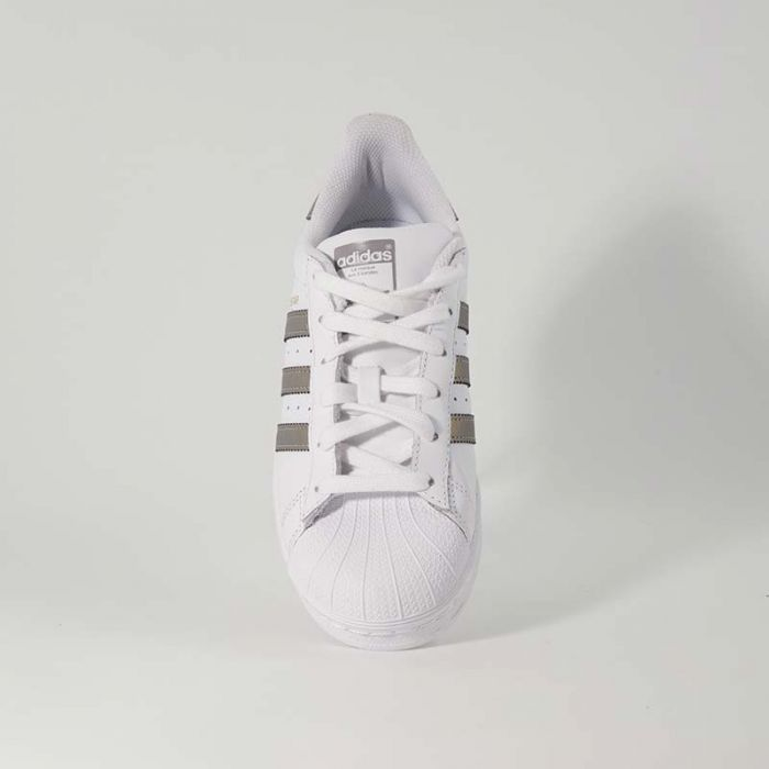 adidas superstar con strisce dorate