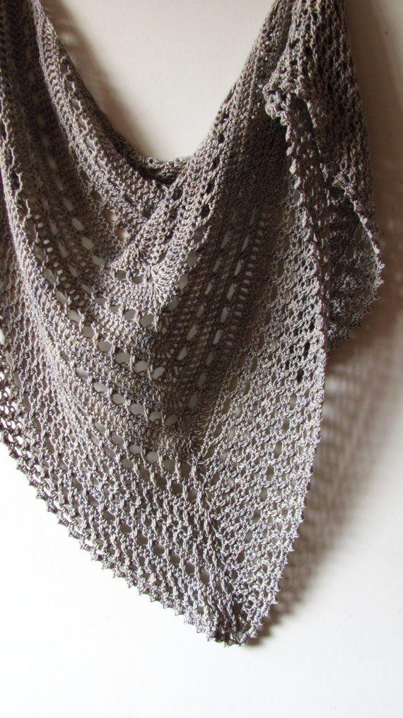 Mare del Nord PDF scialle Crochet Pattern di ShaggyNest su Etsy