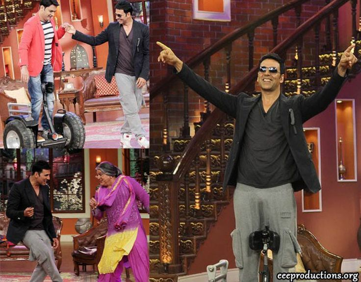 Akshay Kumar shot for an episode of Comedy Nights with Kapil to promote his upcoming film 'Holiday: A Solider Is Never Off Duty'. This movie is releasing on 6 June 2014.