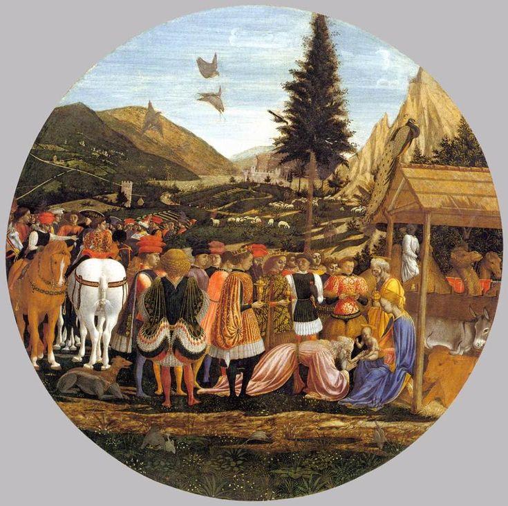 Поклонение волхвов. 1439-43гг Доменико Венециано. Государственные музеи, Берлин.