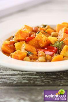Sweet Potato & Chickpea Curry. #HealthyRecipes #CurryRecipes #WeightLoss #WeightlossRecipes weightloss.com.au