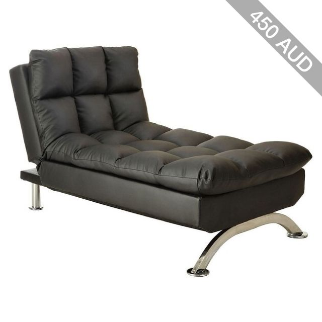 Venetian Worldwide Aristocrat Chaise Chair, Black
