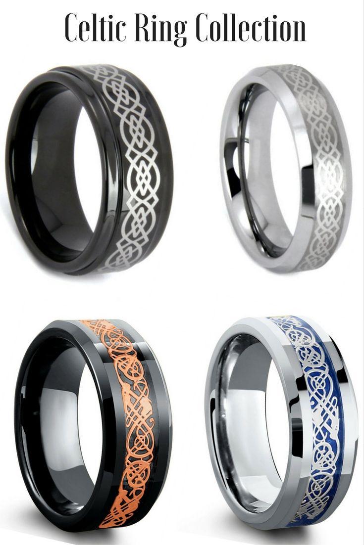 mens celtic wedding bands celtic wedding ring Mens Celtic Tungsten Wedding Rings I love all these celtic rings Some of the