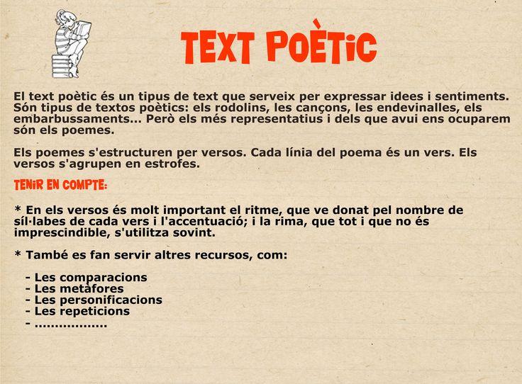 Característiques text poètic