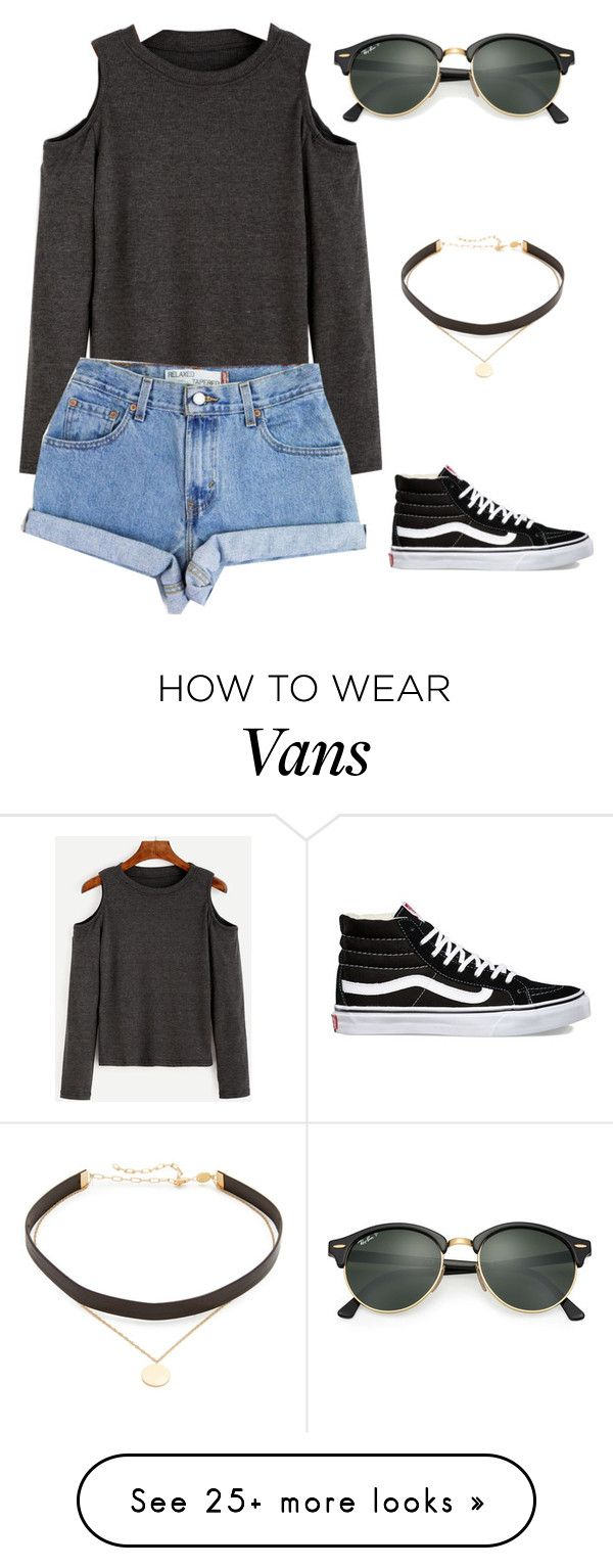 """Untitled #1"" by padfootblack on Polyvore featuring Levi's, Vans, Ray-Ban and Jennifer Zeuner"