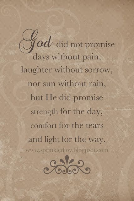 All the Promises of God | God did not promise days without pain, laughter without sorrow, nor ...: