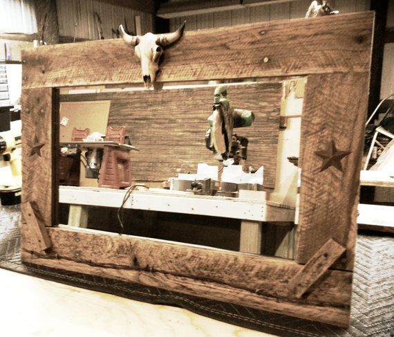 Beautiful Hand-made Western mirrors, 22 wide. Many more styles to choose from. Also 4 foot mirrors available