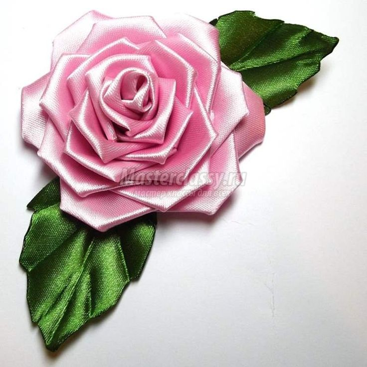 Как сделать розу канзаши