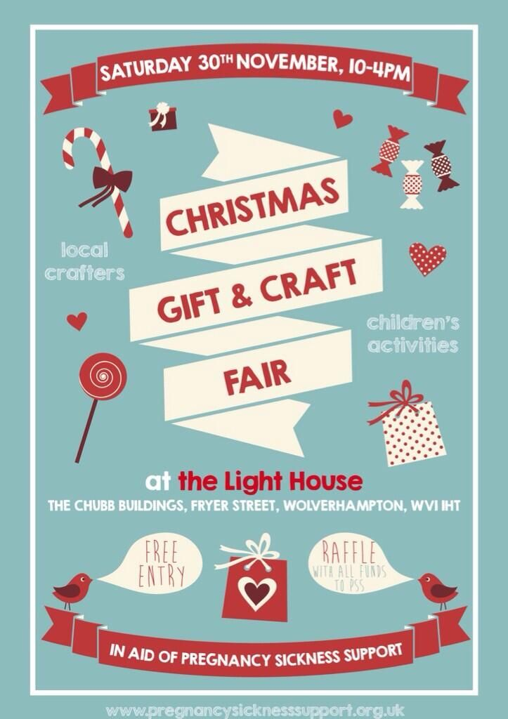 Christmas gift & craft fair poster
